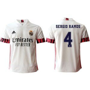 Shirts - Real Madrid Sergio Ramos White 20-21 Jersey